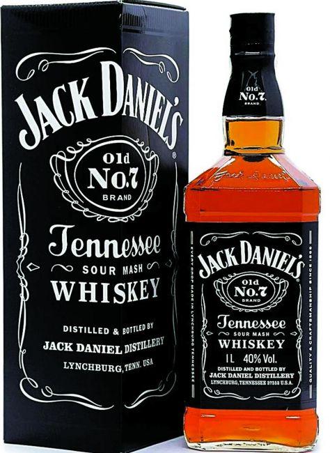 WHISKY JACK DANIELS OLD N7 TENNESSEE 1 LT