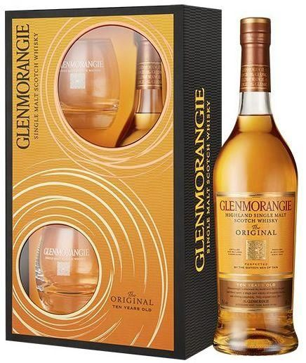 KIT - Single Malt Glenmorangie 10 anos 750 ml com 2 copos