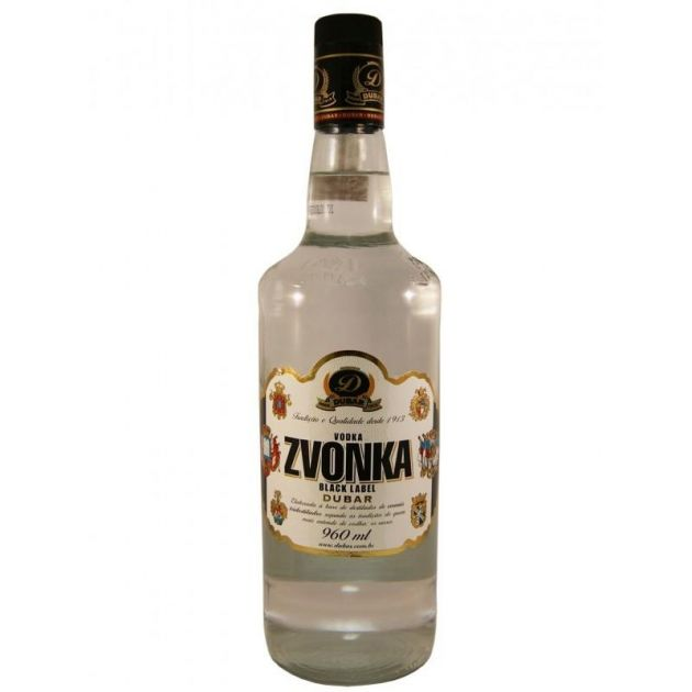 VODKA ZVONKA BLACK LABEL DUBAR - 960 ML