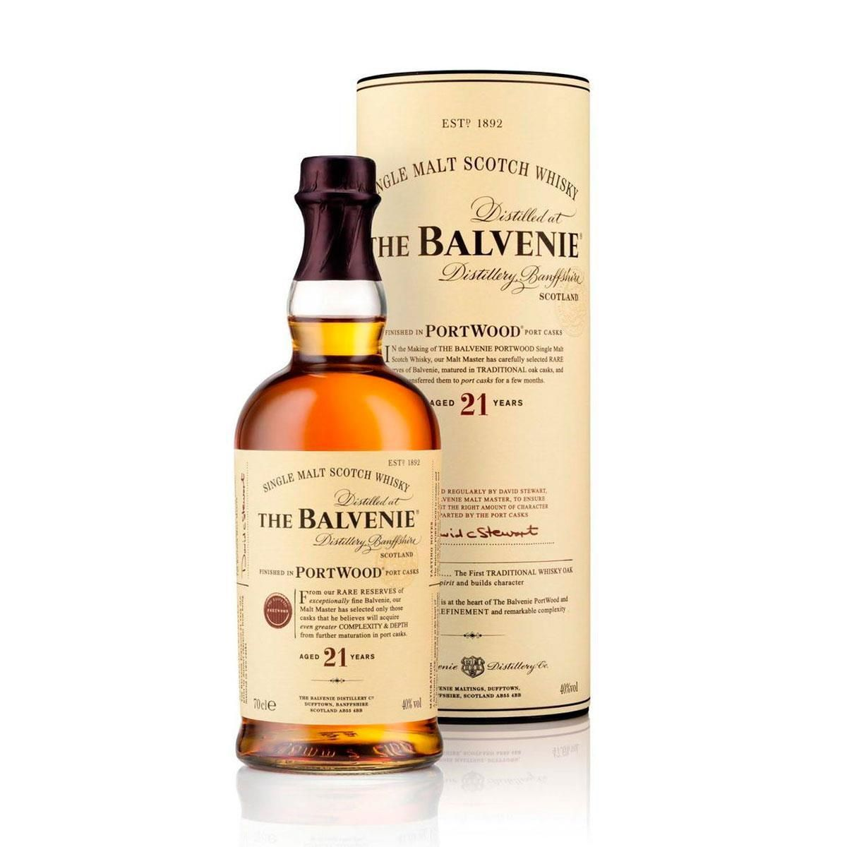 WHISKY BALVENIE SINGLE MALT 21 ANOS 700ML