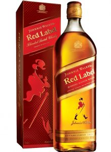 WHISKY JOHNNIE WALKER RED LABEL 8 ANOS  1LT