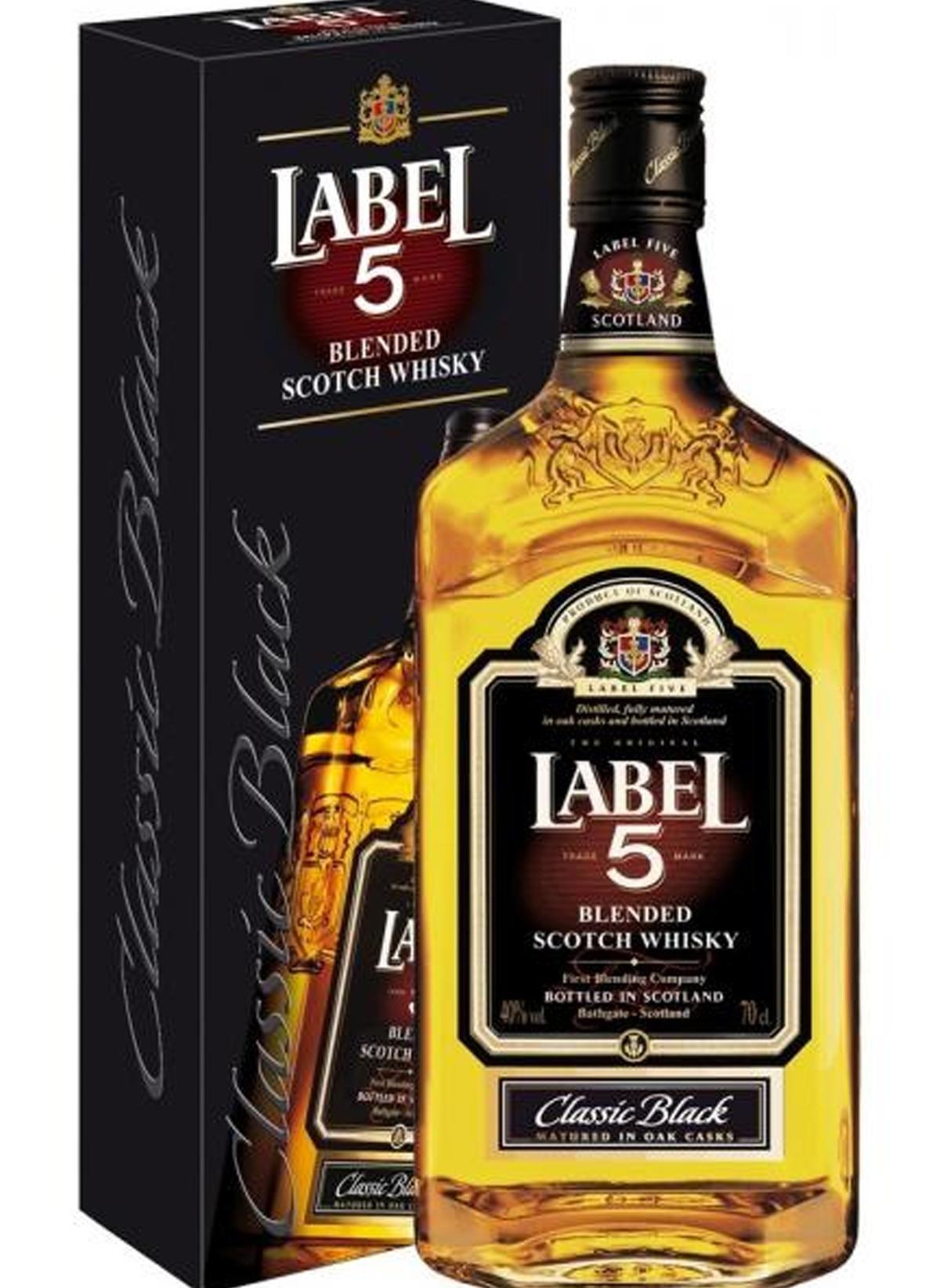 WHISKY LABEL 5 CLASSIC BLACK 1 LITRO