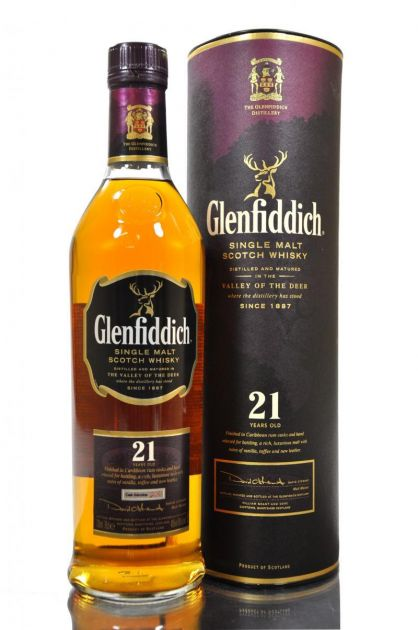 WHISKY SINGLE MALT GLENFIDDICH GRAN RESERVA 21 ANOS - 750 ML