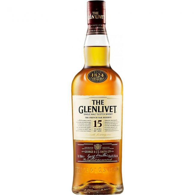 WHISKY SINGLE MALT GLENLIVET 15 ANOS 750 ML