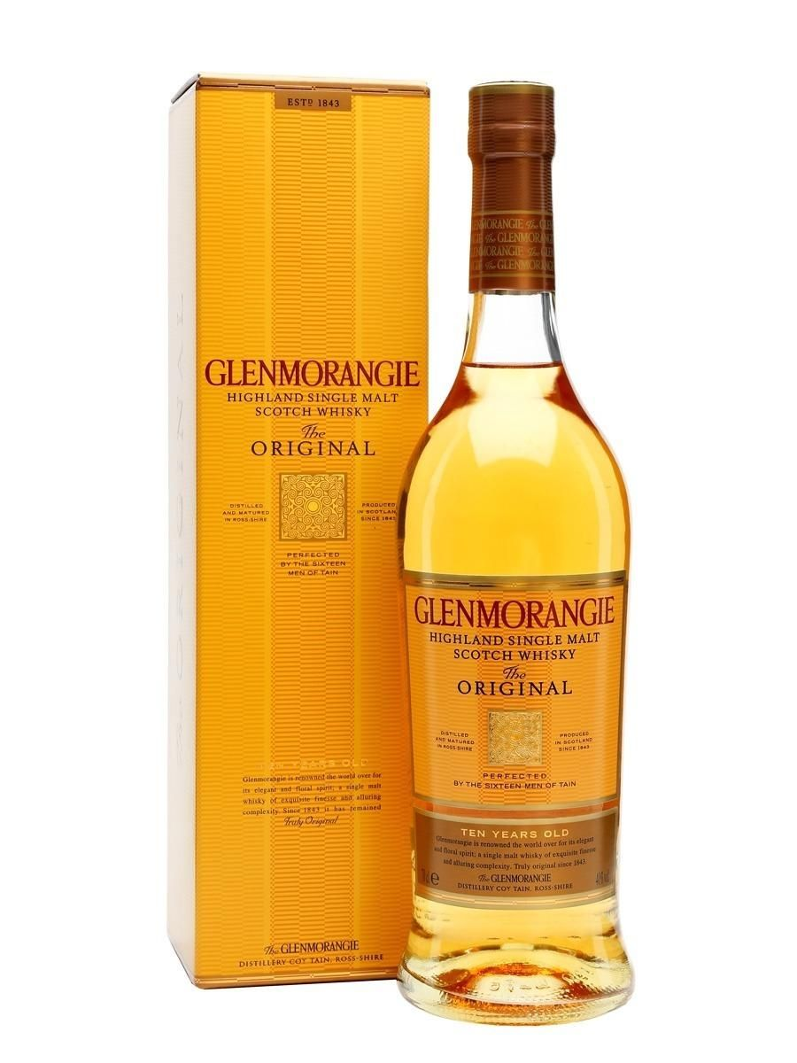 WHISKY SINGLE MALT GLENMORANGIE 10 ANOS 750 ML